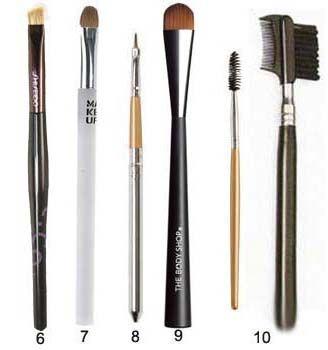 пензлики для нанесення макіяжу