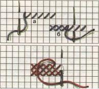 Схема вишивки хрестом знизу вгору