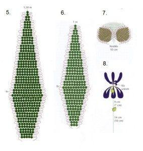 Схема плетіння ірису з бісеру