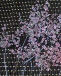 Плетемо гілочки сакури з бісеру