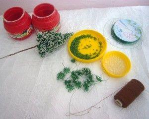 Матеріали та інтсрументф для плетіння різдвяного дерева