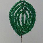 Плетемо листя для фіалки з бісеру