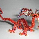 Східний дракон з бісеру