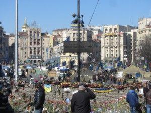 Трайр за загиблими на майдані в Києві на площі незалежності