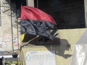 Прапори ОУН УПА на евромайдане, фашизм на майдані