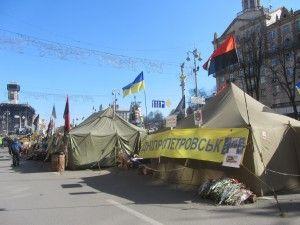 наметове містечко на майдані після революції