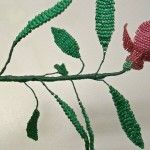 Збірка квітки фуксії з бісеру