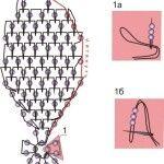 Плетіння пелюстки фуксії з бісеру за схемою
