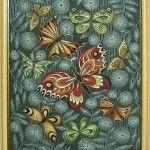 Яскраві метелики вишиті изонитью
