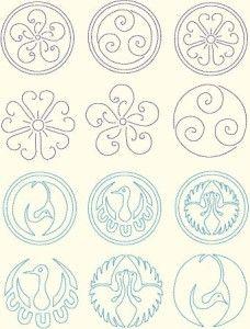 Різноманітні візерунки для вишивки Сашико