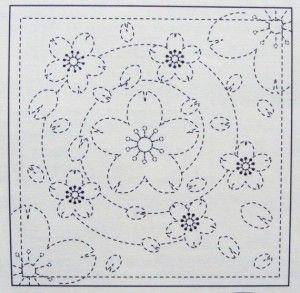 Схема для японської вишивки Сашико