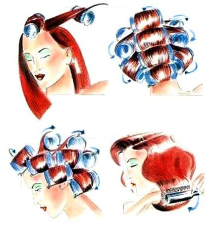 накручування волосся на бігуді