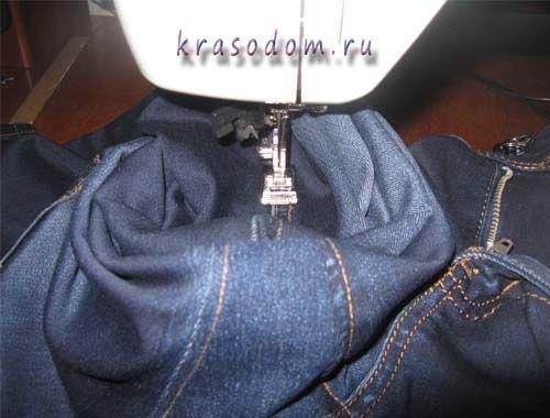 ремонт джинс покрокове фото27