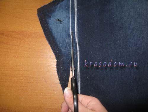 ремонт джинс покрокове фото5