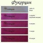 Фарбування тканини за допомогою фукорцин