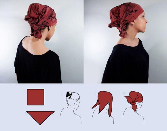 пов'язати хустку на голові в африканському стилі