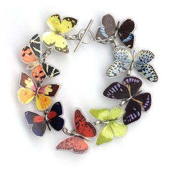 браслет з метеликами