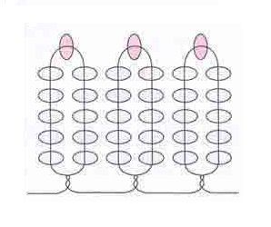 Схема петельного плетіння бісером
