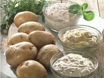 картопля в мундирі з 3 діпамі