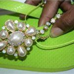 Декорація літнього взуття своїми руками