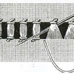 Шов мережка подвійний пучок або стовпчик