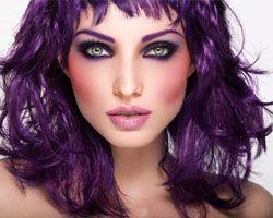 фіолетовий макіяж