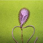 Майстер - клас з виготовлення квітів з дроту та ниток