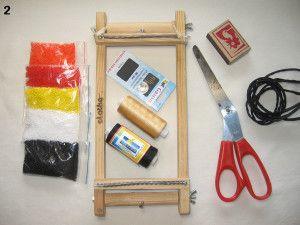 Матеріали та інструменти для пояса з бісеру