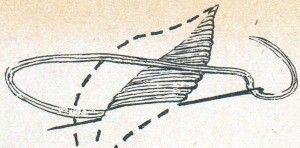 Схема вишивки двосторонньої гладдю без настилу