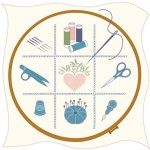 Схема основних приладдя необхідних для вишивки