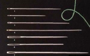 Різновиди голок для вишивки