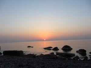 гарний схід пляж місто Одеса, українські пляжі