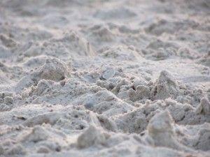 невеликий морський пісок на одеському пляжі.