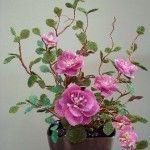 Паралельне плетіння квітів з бісеру