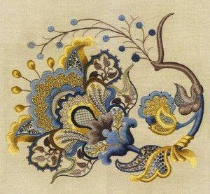 Крюіл - якобінська вишивка