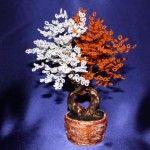 Разноцветз бісераное Дерево Інь Янь і