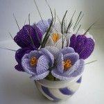 Букет квітів у французькій техніці плетіння