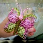 Метелик з бісеру у французькій техніці плетіння