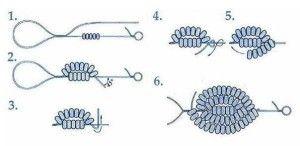Схема французької техніки плетіння бісером