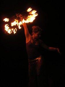 Вогняні шоу організовані самостійно на ПБК