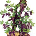 Декоративний виноград з бісеру