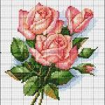 Схема букета троянд для вишивки бісером