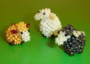 Майстер-клас плетіння овечки з бісеру