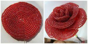 Майстер-клас плетіння троянди з бісеру