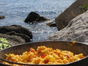 Як готувати на пляжі, кримський плов