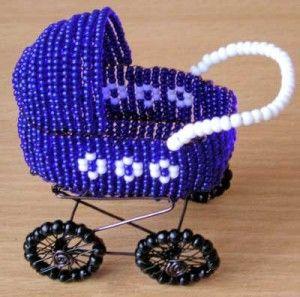 Майстер-клас з плетіння коляски з бісеру