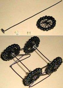 Робимо колеса для коляски з бісеру