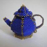 Виріб з бісеру у вигляді чайника