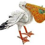 Виріб з бісеру у вигляді пелікана