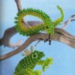 Вироби з бісеру у вигляді змійки і жаби